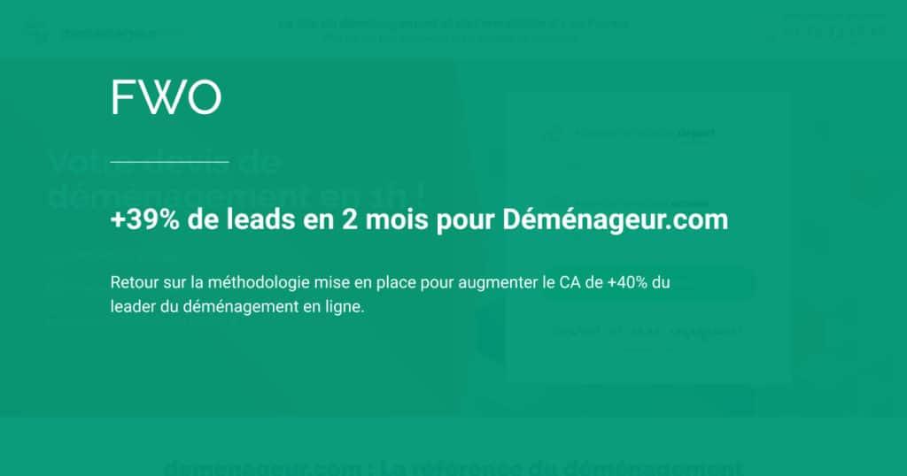 Methodologie optimisation parcours utilisateur demande de lead par mathieu fauveaux fwo